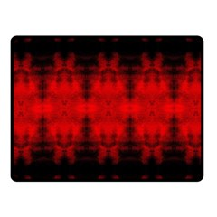 Red Black Gothic Pattern Fleece Blanket (small) by Costasonlineshop