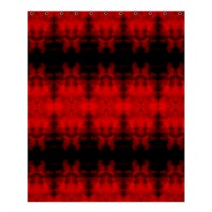 Red Black Gothic Pattern Shower Curtain 60  X 72  (medium)  by Costasonlineshop