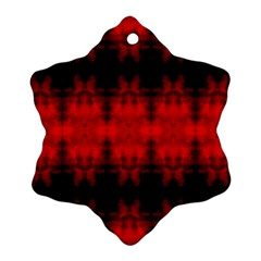 Red Black Gothic Pattern Ornament (Snowflake)  by Costasonlineshop