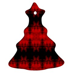 Red Black Gothic Pattern Ornament (christmas Tree) by Costasonlineshop