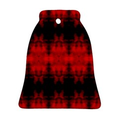 Red Black Gothic Pattern Ornament (bell)  by Costasonlineshop