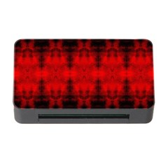 Red Black Gothic Pattern Memory Card Reader With Cf by Costasonlineshop
