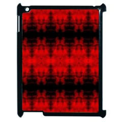 Red Black Gothic Pattern Apple Ipad 2 Case (black) by Costasonlineshop