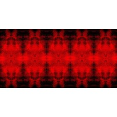 Red Black Gothic Pattern You Are Invited 3d Greeting Card (8x4)  by Costasonlineshop