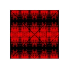 Red Black Gothic Pattern Acrylic Tangram Puzzle (4  X 4 ) by Costasonlineshop