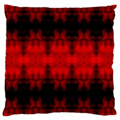 Red Black Gothic Pattern Large Cushion Cases (two Sides)  by Costasonlineshop