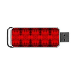 Red Black Gothic Pattern Portable Usb Flash (two Sides) by Costasonlineshop