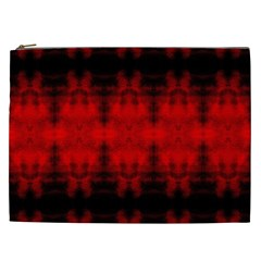 Red Black Gothic Pattern Cosmetic Bag (xxl)