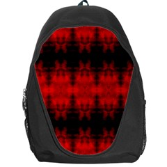 Red Black Gothic Pattern Backpack Bag by Costasonlineshop