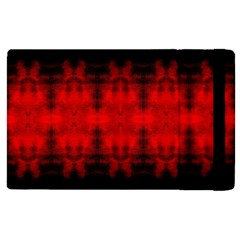 Red Black Gothic Pattern Apple Ipad 2 Flip Case by Costasonlineshop