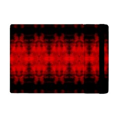 Red Black Gothic Pattern Apple Ipad Mini Flip Case by Costasonlineshop
