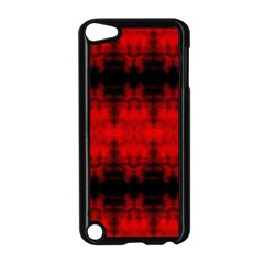 Red Black Gothic Pattern Apple Ipod Touch 5 Case (black) by Costasonlineshop
