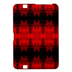 Red Black Gothic Pattern Kindle Fire HD 8.9  by Costasonlineshop