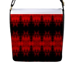 Red Black Gothic Pattern Flap Messenger Bag (l)  by Costasonlineshop