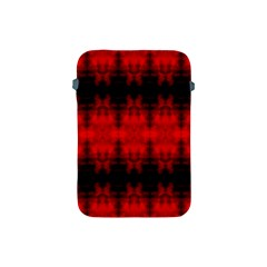 Red Black Gothic Pattern Apple Ipad Mini Protective Soft Cases by Costasonlineshop