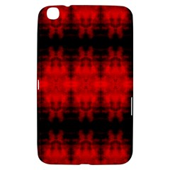 Red Black Gothic Pattern Samsung Galaxy Tab 3 (8 ) T3100 Hardshell Case  by Costasonlineshop