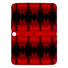 Red Black Gothic Pattern Samsung Galaxy Tab 3 (10 1 ) P5200 Hardshell Case  by Costasonlineshop