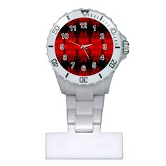 Red Black Gothic Pattern Nurses Watches by Costasonlineshop