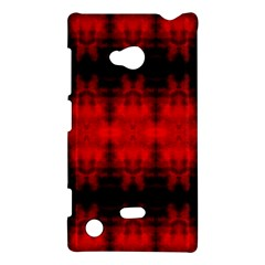 Red Black Gothic Pattern Nokia Lumia 720 by Costasonlineshop