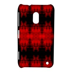 Red Black Gothic Pattern Nokia Lumia 620 by Costasonlineshop