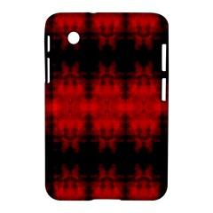 Red Black Gothic Pattern Samsung Galaxy Tab 2 (7 ) P3100 Hardshell Case  by Costasonlineshop