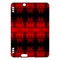 Red Black Gothic Pattern Kindle Fire Hdx Hardshell Case by Costasonlineshop