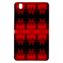 Red Black Gothic Pattern Samsung Galaxy Tab Pro 8 4 Hardshell Case by Costasonlineshop