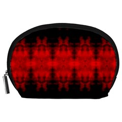 Red Black Gothic Pattern Accessory Pouches (large)  by Costasonlineshop