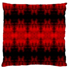 Red Black Gothic Pattern Large Flano Cushion Cases (one Side)