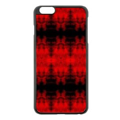 Red Black Gothic Pattern Apple Iphone 6 Plus/6s Plus Black Enamel Case by Costasonlineshop