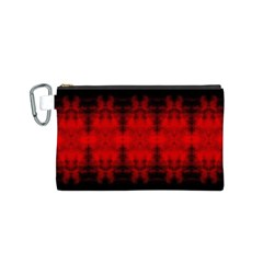 Red Black Gothic Pattern Canvas Cosmetic Bag (S) by Costasonlineshop