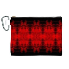 Red Black Gothic Pattern Canvas Cosmetic Bag (xl)  by Costasonlineshop