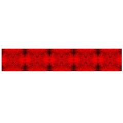 Red Black Gothic Pattern Flano Scarf (large)