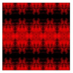 Red Black Gothic Pattern Large Satin Scarf (square) by Costasonlineshop