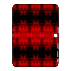 Red Black Gothic Pattern Samsung Galaxy Tab 4 (10 1 ) Hardshell Case  by Costasonlineshop
