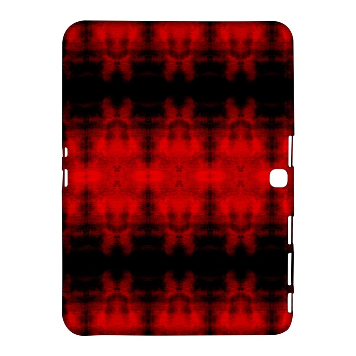Red Black Gothic Pattern Samsung Galaxy Tab 4 (10.1 ) Hardshell Case