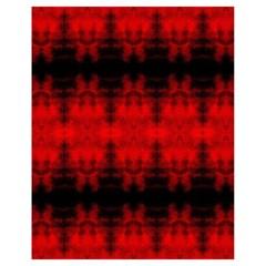 Red Black Gothic Pattern Drawstring Bag (small) by Costasonlineshop