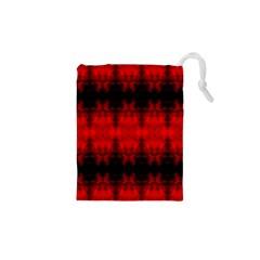 Red Black Gothic Pattern Drawstring Pouches (xs)  by Costasonlineshop