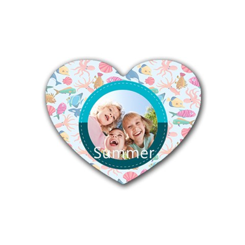 Summer By Summer Time    Rubber Coaster (heart)   1sm33b0zcq4n   Www Artscow Com Front