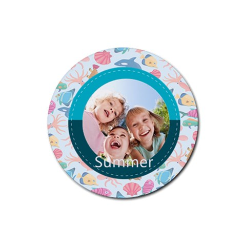 Summer By Summer Time    Rubber Coaster (round)   J40xy1nmyipo   Www Artscow Com Front