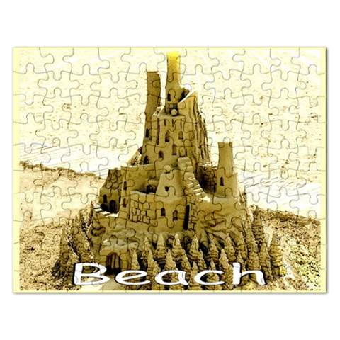 Beach Sandcastle Template Puzzle By Pamela Sue Goforth   Jigsaw Puzzle (rectangular)   71l2ptxnwgav   Www Artscow Com Front