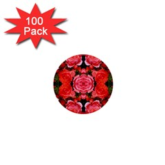Beautiful Red Roses 1  Mini Buttons (100 Pack)  by Costasonlineshop