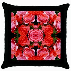 Beautiful Red Roses Throw Pillow Cases (black)