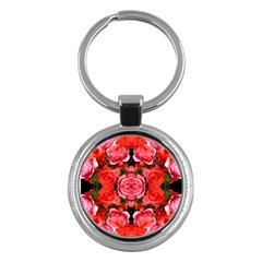 Beautiful Red Roses Key Chains (Round)  by Costasonlineshop
