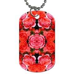 Beautiful Red Roses Dog Tag (one Side)
