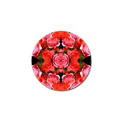 Beautiful Red Roses Golf Ball Marker by Costasonlineshop