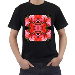 Beautiful Red Roses Men s T Shirt (black) (two Sided) by Costasonlineshop