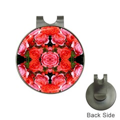 Beautiful Red Roses Hat Clips with Golf Markers by Costasonlineshop
