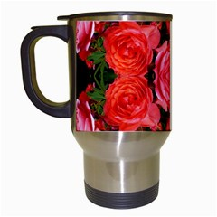 Beautiful Red Roses Travel Mugs (white) by Costasonlineshop