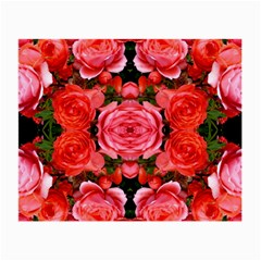 Beautiful Red Roses Small Glasses Cloth by Costasonlineshop